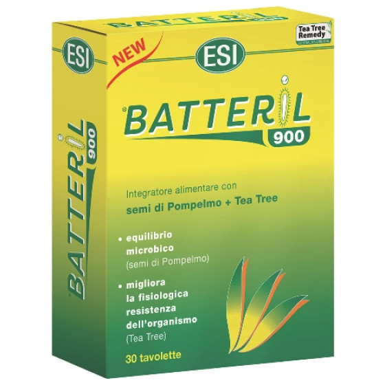 Esi Tea Tree Remedy Batteril 900 Integratore Alimentare Semi di Pompelmo e Tea Tree Antibatterico 30 Tav-973352937-20